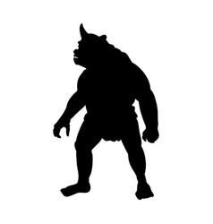 Cyclops silhouette monster villain fantasy vector
