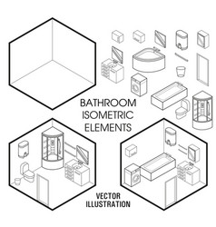 Isometric bathroom interior constructor vector