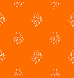 leaves pattern seamless vector image vector image