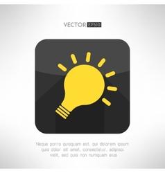 Light bulb icon in modern flat design Creativity vector image vector image