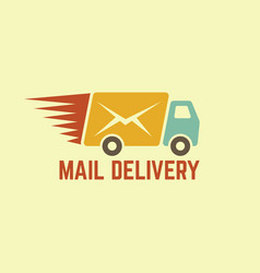 mail delivery vintage logo vector image