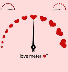 Meter power love heart valentine vector