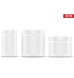 Mockup Sport Nutrition Container Whey Protein and vector image vector image