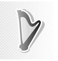 Musical instrument harp sign new year vector