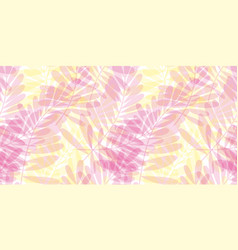 Pink and yellow tropical seamless pattern vector