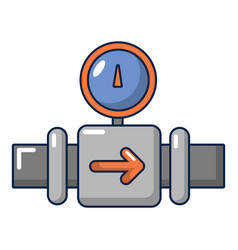 Water meter pipe icon cartoon style vector