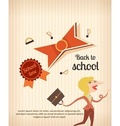 Education with school teacher vector