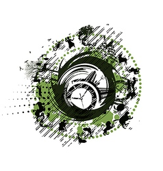 zodiac clock abstract background vector image
