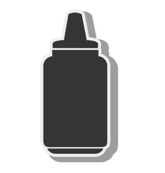 Sauce bottle container vector