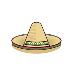 Traditional mexican hat vector