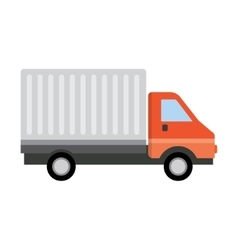 Delivery truck transporting vector image