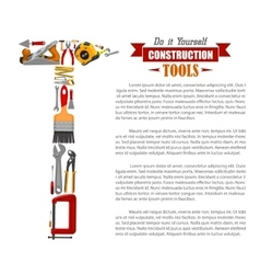 Poster of repair tools and construction items vector