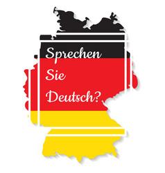 do you speak german vector image
