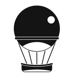 aerostat balloon icon simple style vector image