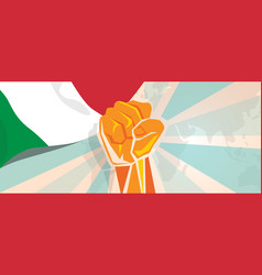 Italy fight and protest independence struggle vector