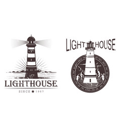 sketch of lighthouse at port or beacon vector image