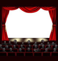 Cinema with audience vector