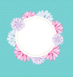Romantic vintage floral card romantic vintage vector