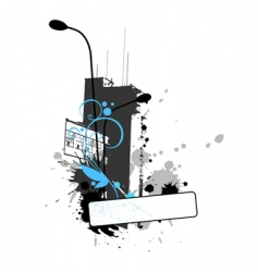 grungy builging vector image