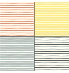 Seamless patterns set with painted stripes vector