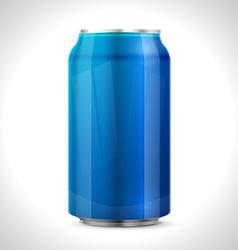 Blue aluminum can vector