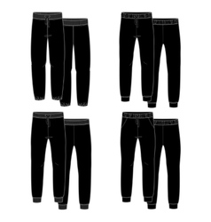 Girls trousers black vector