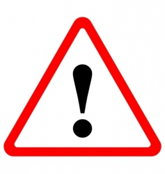 Triangular warning sign vector