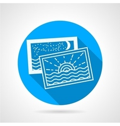 Vacations photo round icon vector