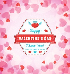 Happy valentines day typographical badge vector