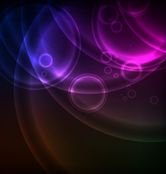 Shiny circles background vector