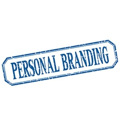 Personal branding square blue grunge vintage vector