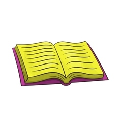Open book icon in cartoon style vector