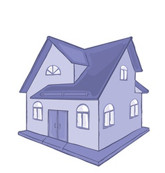 Abstract house design vector image vector image