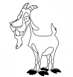 billy goat vector image vector image