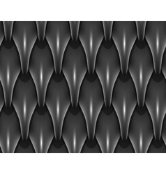 Black dragon scales seamless background texture vector