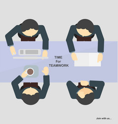 business teamwork in discussion time vector image