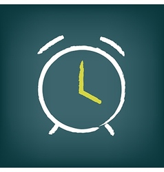 Chalk alarm clock vector