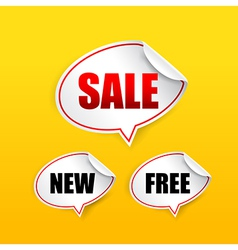 Collection of sale free new tag speech bubble vector
