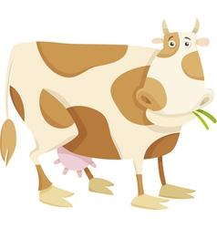 Cow farm animal cartoon vector