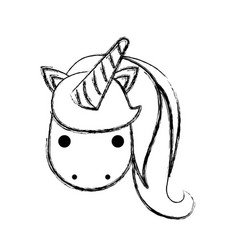 cute fantasy unicorn character vector image vector image