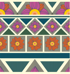 Decorative seamless pattern with flowers vector