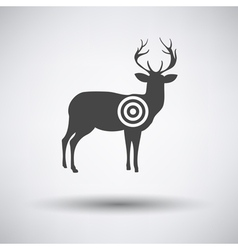 Deer silhouette with target vector