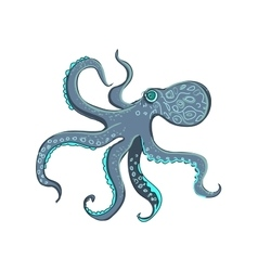 doodle octopus vector image vector image
