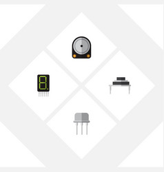 flat icon device set of hdd display destination vector image vector image