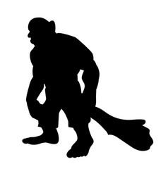 Giant person silhouette monster villain fantasy vector