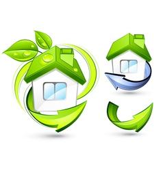 Green homes vector