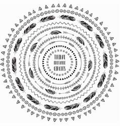 hand drawn ethnic circles frames editable pattern vector image vector image