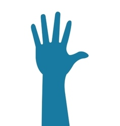 Hand silhoutte icon vector