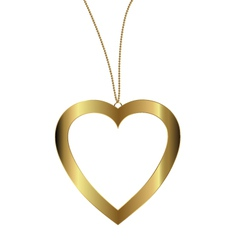 heart pendant of gold vector image vector image