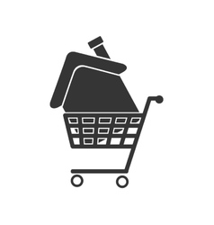house cart buy isolated vector image